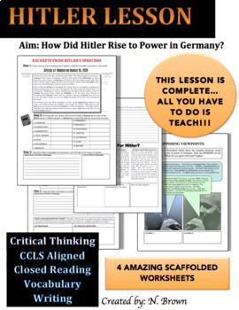 Adolf Hitler's Rise To Power Lesson