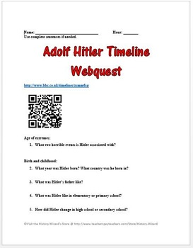 Hitler Lesson Plan Collection (Holocaust/World War II)