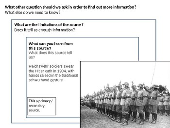 Hitler Oath of Loyalty Source Analysis Activity