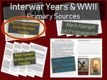 Hitler: Primary Source w/ guiding questions: 1933 Proclamation