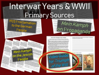 Hitler: Primary Source w/ guiding questions: Triumph of the Will