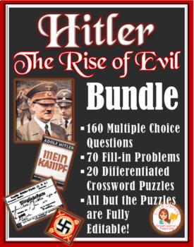 Hitler: The Rise of Evil  BUNDLE (Questions Set + Worksheets)