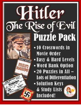 Hitler: The Rise of Evil Puzzle Pack -- 20 Differentiated Movie Puzzles