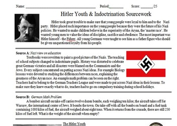 Hitler Youth & Indoctrination Primary and Secondary Source