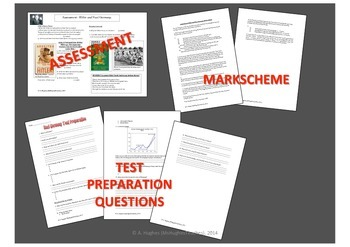 Hitler and Nazi Germany Test, Test Prep and mark scheme DBQ