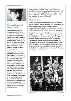 Hitler and the First World War
