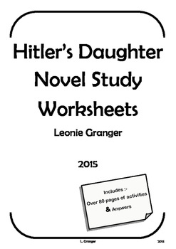 Hitler's Daughter Novel Study