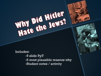 Hitler's Antisemitism: Why Hitler Targeted the Jews
