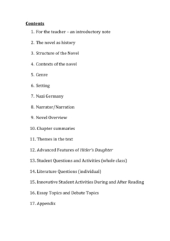 Hitler's Daughter by Jackie French - the teachers guide