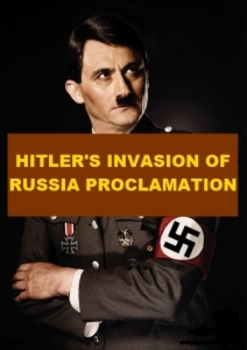 Hitler's Invasion of Russia Proclamation