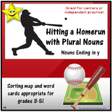 Noun Plurals, Sorting Mat Activity for Nouns Ending in -y!