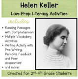 Helen Keller, a No-Prep Lesson With Literacy Activities for grades 2-4
