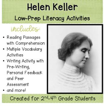 Helen Keller, a Social Studies Lesson Plan Packet  With Li