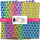 Rainbow Hive Paper {Scrapbook Backgrounds for Task Cards &