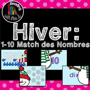 Hiver 1-10 Match des Nombres