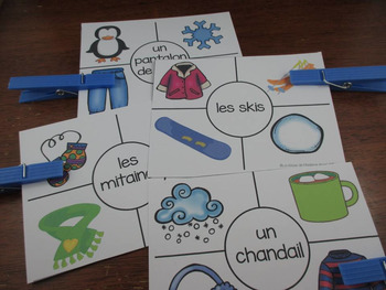 Hiver:  3 Winter Themed Vocabulary Games in French