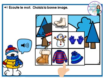Hiver:  French Winter Themed Digital Task Cards BUNDLE - BOOM CARDS