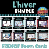Hiver:  French Winter Themed Digital Task Cards BUNDLE - B