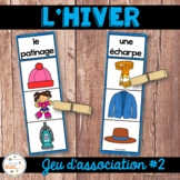 Hiver - Jeu d'association #2 - French Winter Clip Cards