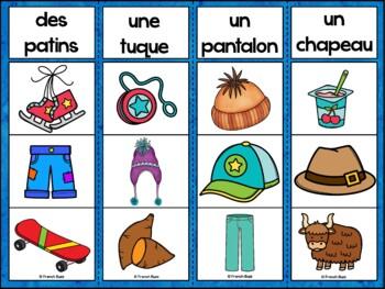 Hiver - Jeu d'association #2 - French Winter Clip Cards