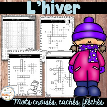 Hiver - Mots croisés, cachés, fléchés - French Winter