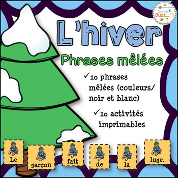 Hiver - Phrases mêlées - French Winter