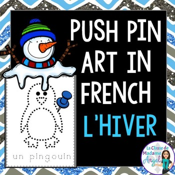 Hiver:  Winter Themed Pinning Pages in French