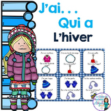 Hiver:  Winter Themed Vocabulary Game in French  - J'ai. . .Qui a. . .?