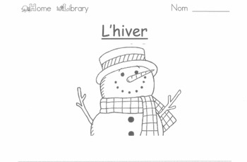 Hiver (Winter) worksheet mish-mash