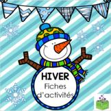 Hiver fiches d'activités - Winter Activity Sheets French