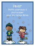Hiver (temps libres) France