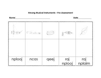 Hmong musical instruments assessment