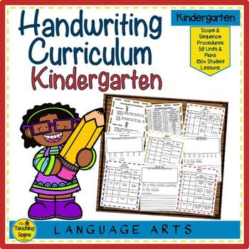 Handwriting Yearly Unit:  Kindergarten