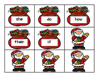 Ho, Ho, HO! - 1st 50 Fry's Words Game