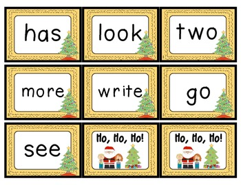 Ho, Ho, Ho! A Christmas Fry Sight Word Game