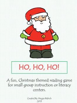 Ho, Ho, Ho! A Christmas themed reading game!