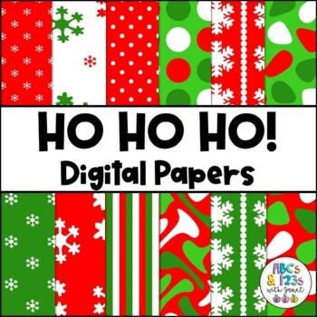 Ho Ho Ho! Christmas Digital Papers