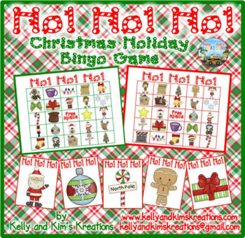 Ho! Ho! Ho! Christmas Holiday Bingo Game