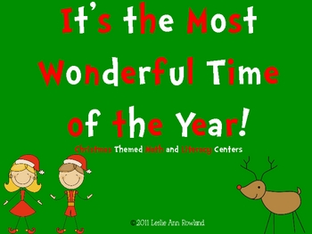 Ho! Ho! Ho! Christmas Math and Literacy Centers