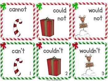 Ho! Ho! Ho! Contraction Matching Literacy Center