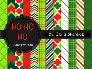 Christmas Digital Paper Backgrounds