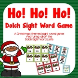 Christmas Dolch Sight Words Game