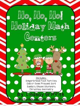 Ho, Ho, Ho! Holiday Math Tub Centers