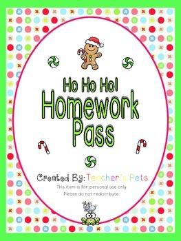 Ho Ho Ho! Homework Pass