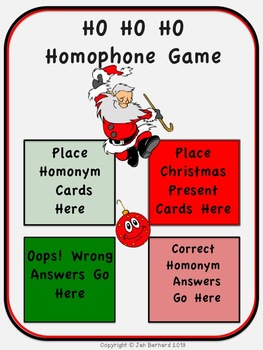 Ho Ho Ho Homophone Game