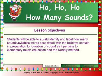 Ho, Ho, Ho!  How Many Sounds? - Preparing for Duration of Sound
