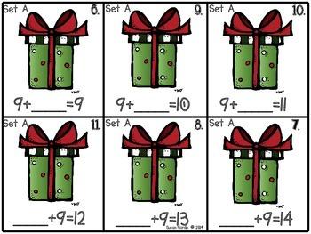 Ho! Ho! Ho! Missing Addends Math Center