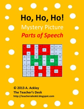 Ho, Ho, Ho! Mystery Picture Parts of Speech