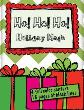 Ho Ho Ho! Numbers and Operations: Christmas Math Centers and Blacklines