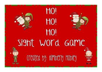 Ho! Ho! Ho! Sight Word Game